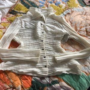 NWT! Authentic Babette Corset Pleat Shirt XXS